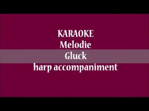 KARAOKE Melodie(Gluck) - harp accompaniment
