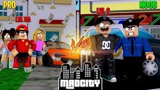 ROBLOX - MAD CITY, NOOB vs PRO!!!