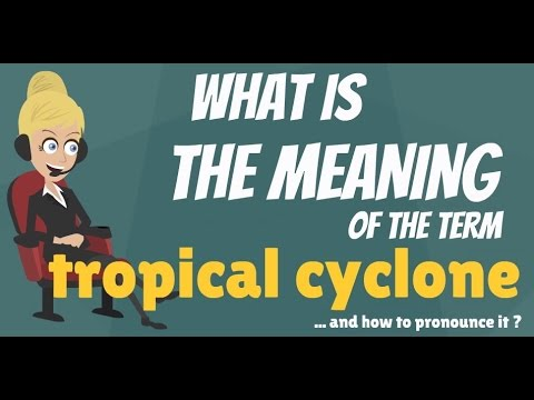 What is TROPICAL CYCLONE? What does TROPICAL CYCLONE mean? TROPICAL CYCLONE meaning & explanation