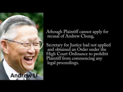 李國能Andrew LI misconducted, an inconvenient truth