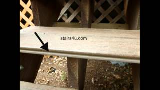 Simple Solutions For Using Grooved Decking Planks For Stair Steps