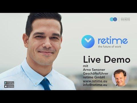 retime™ GmbH: Mobile Mitarbeiter besser managen | Live Demo mit Arno Senoner