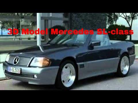 3d model mercedes sl class 1995 youtube. Black Bedroom Furniture Sets. Home Design Ideas