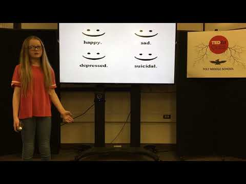 Depression. Let Your Smile Change The World | Aeris Griffin | Tolt Middle School