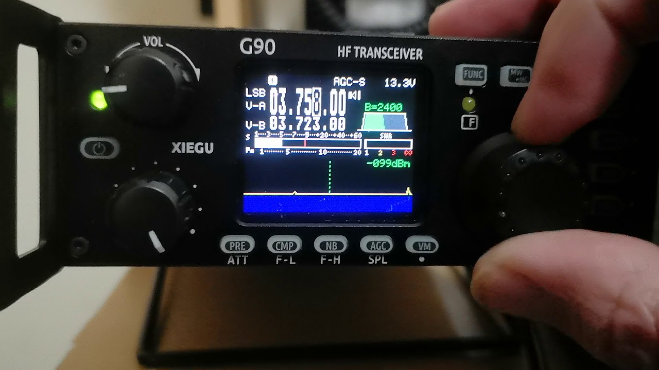 XieGu G90 spectrum analyser after first firmware update