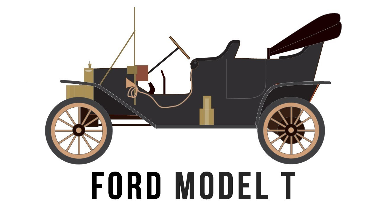 Ford model t mass produced car