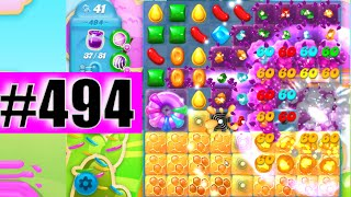 Jelly Donnut Explosion! Candy Crush Soda Saga Level 494 NEW | Complete!