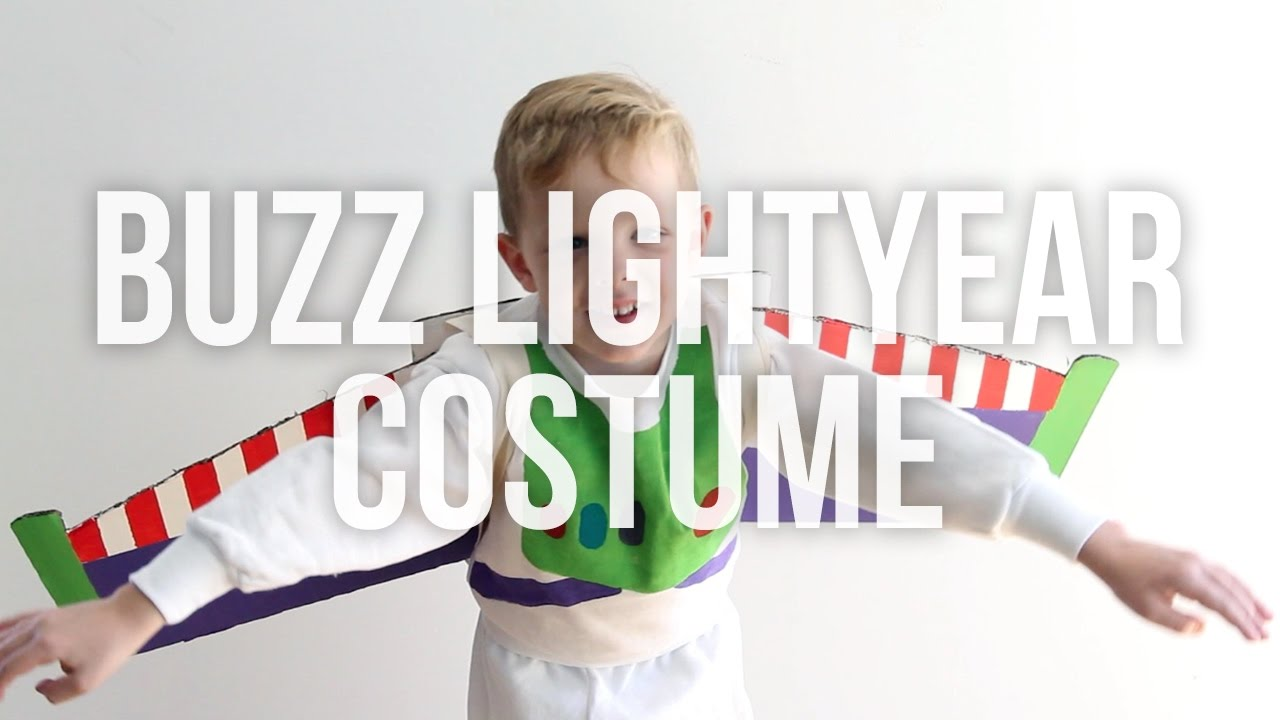 Buzz Lightyear From Toy Story No Sew Homemade Halloween Costume