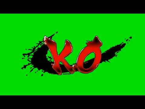 K.O. GREEN SCREEN ANIMATION WITH (SOUND EFFECT POP)