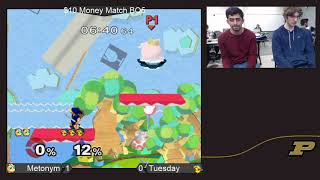 Purdue Weekly 4/18/18 - Money Match - (Jigglypuff) Metonym vs Tuesday (Young Link)