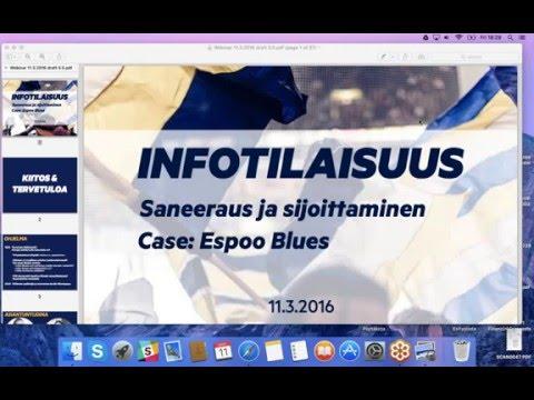 Espoo Blues infotilaisuus: saneeraus & sijoittaminen   11.3.2016
