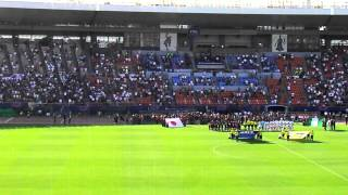 Before the time to kick-off - National Anthem - 1st half kick-off -...