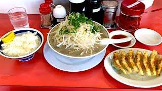 【大食い】ラーメン福で野菜増し超デカ盛りラーメンと餃子とライスを食った thumbnail