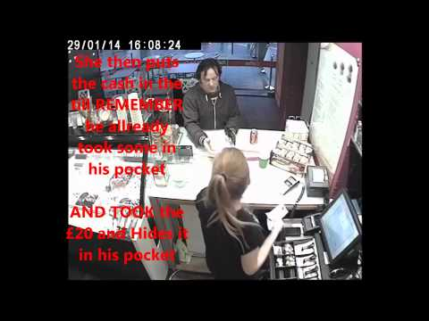 Scam Con Artist Using Sleight of Hand to Steal Cash from a Gelato Shop in London