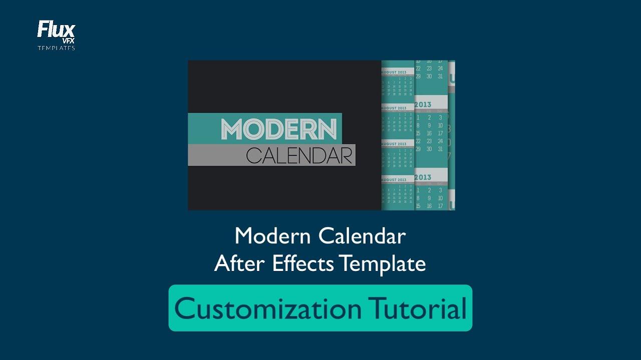 MODERN CALENDAR After Effects template TUTORIAL - YouTube