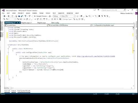 Security Part 3 - Setting up OWIN and Signing In