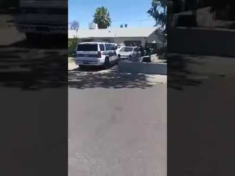 07/04/2020 Phoenix, AZ. Cops kill an unarmed Hispanic male in his car with his hands up.