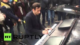 'Imagine all the people...': Lennon classic played near Bataclan theater, Paris