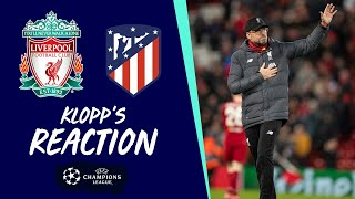Klopp's Reaction: Boss on Champions League exit at Anfield | Liverpool vs Atletico Madrid