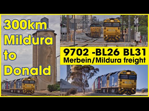300km Chase From Mildura To Donald 9702v - BL26 BL31 Merbein Mildura Freight 9.12.2018 Sunday