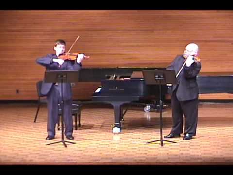 Prokofiev Sonata for Two Violins 1st mvt (recorded live in 2002)