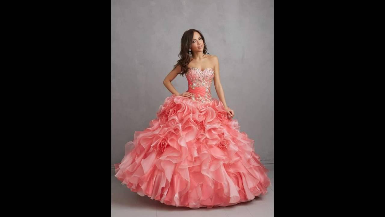 Vestidos De 15 Anos: Vestidos De 15 Años Color Salmon
