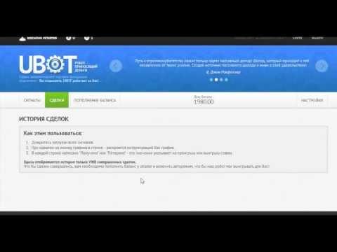 Как зарабатывать на бинарных опционах с помощью робота U-bot