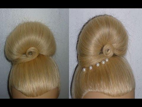 ... Hairstyle.Hair Bun Donut Hairstyle Tutorial.Penteados - YouTube