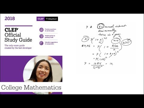 Q01 College Mathematics 2018 CLEP Official Study Guide
