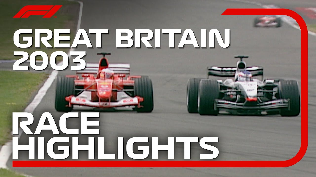 2003 British Grand Prix: Race Highlights   DHL F1 Classics - FORMULA 1