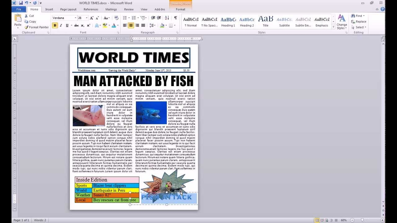 How to make a newspaper 66