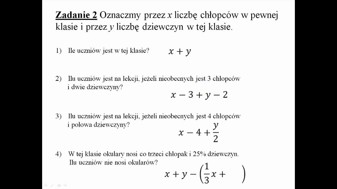 wyrażenia algebraiczne sprawdzian pdf