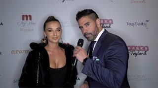 Casey Boonstra Interview 2019 Babes in Toyland LA Toy Drive Red Carpet