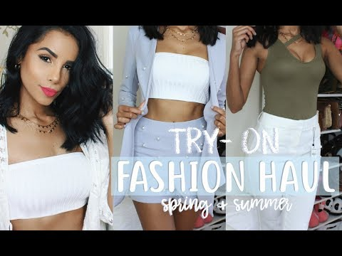 HUGE TRY ON FASHION HAUL - Spring & Summer