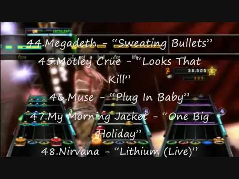 Guitar Hero 5 Song List Revealed