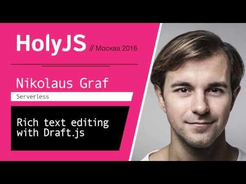 Rich text editing with Draft.js — Nikolaus Graf