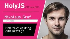 Rich text editing with Draft.js — Nikolaus Graf