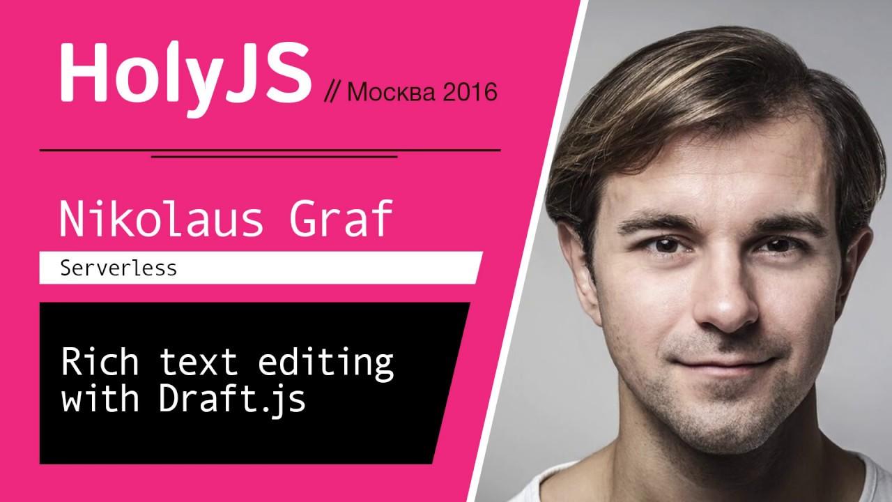 Rich text editing with Draft js — Nikolaus Graf