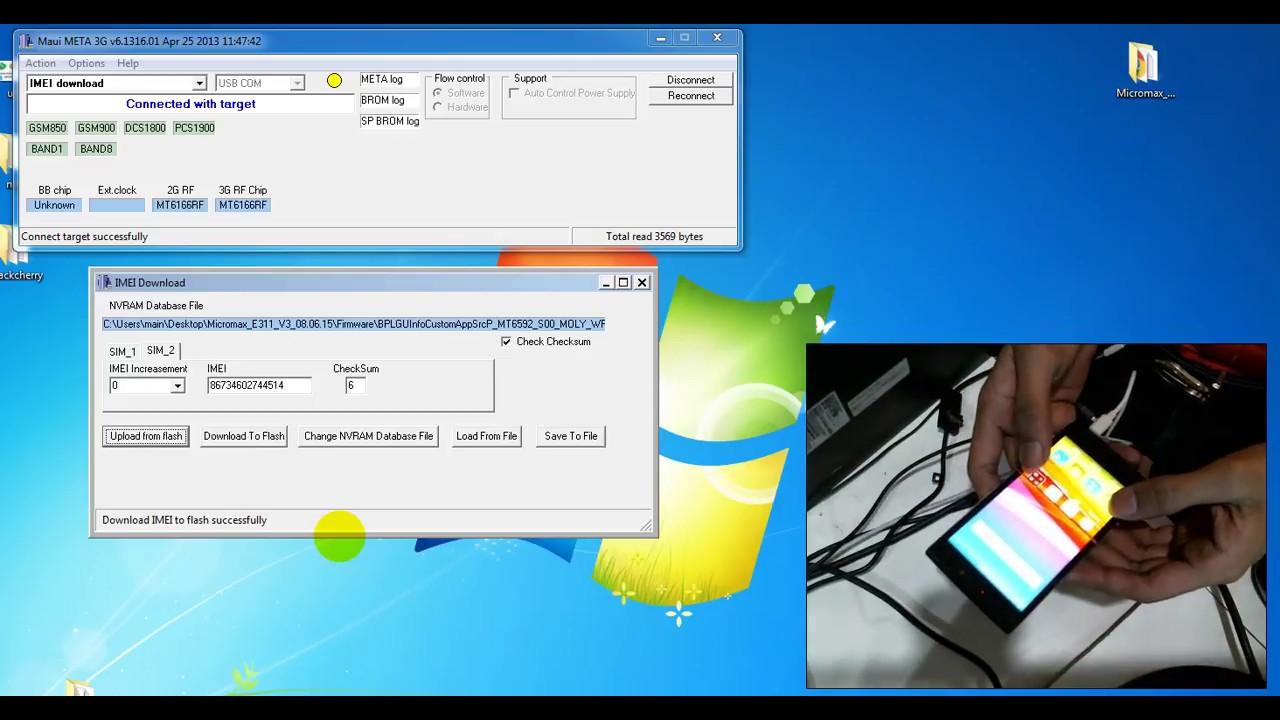 micromax e311 imei repair free software maui meta Download
