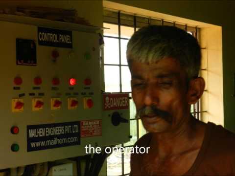 Bio-gas based electricity unit at GKVK,Bangalore