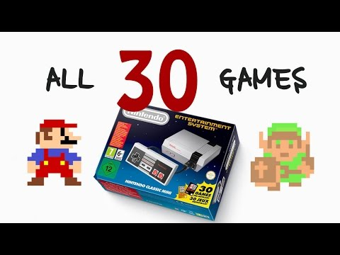 ALL 30 GAMES for Nintendo Classic Mini