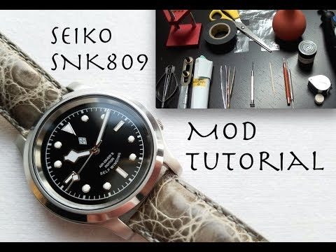 SEIKO SNK809 / SKX007 MOD TUTORIAL - How To Modify A Seiko SNK / SKX