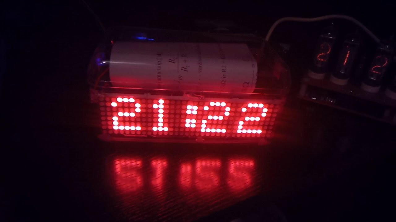 32x8 Led Matrix Clock Rtc T Rh Youtube For Beginners Digital With 7segments And