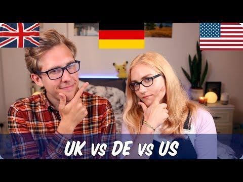 German VS American VS British