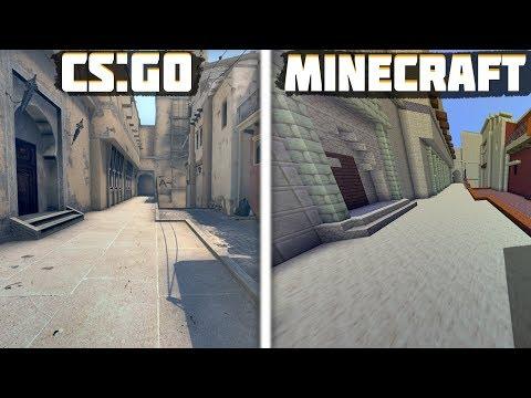 Построил карту Mirage из CS:GO в Майнкрафте // Мираж в Minecraft // Построил карту из Кс го
