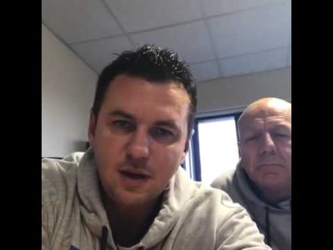 Matt Fiddes and MF Manager Larry on Facebook Live.