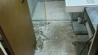 욕실바닥 물고임 천역석 바닥 타일? 돌타일은 좋은가?