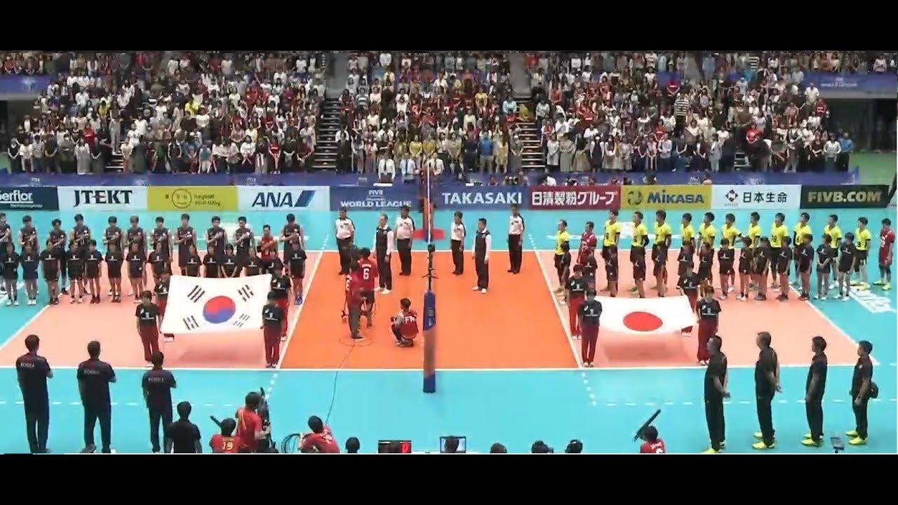 06-11-2017 日本對韓國 世界男子排球聯賽2017 set 1 精華 - YouTube