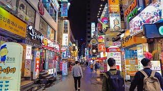 [4K] Seoul Night Walk on Cheon…