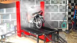 PATENT-Automatic motorcycle wash,BD1.PORTABLE, for heavy-light motorcycle